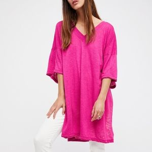 We The Free Tops - We The Free Pink Solid City Slicker Tunic sz L I06